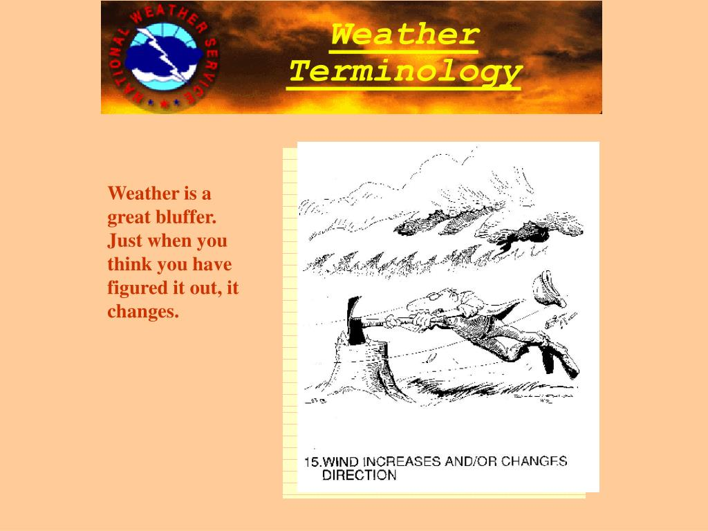 Weather is a great bluffer.  Just when you think you have figured it out, it changes.
