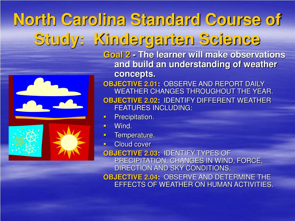 North Carolina Standard Course of Study:  Kindergarten Science