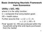 basic underlying heuristic framework from economics