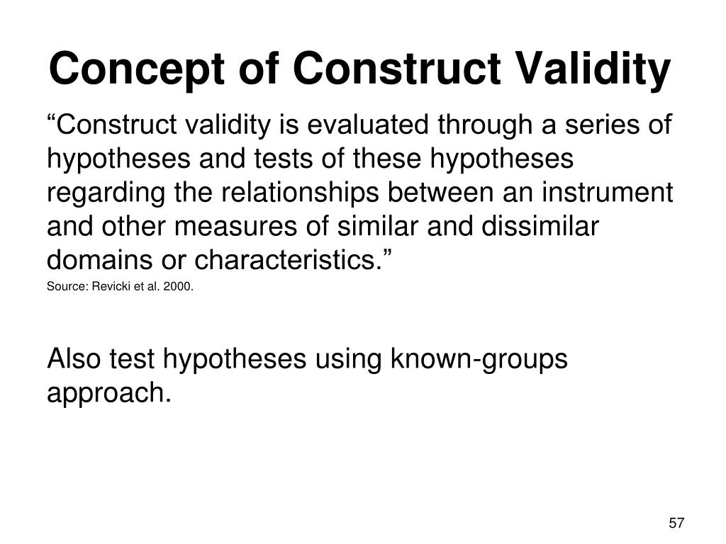 Concept of Construct Validity