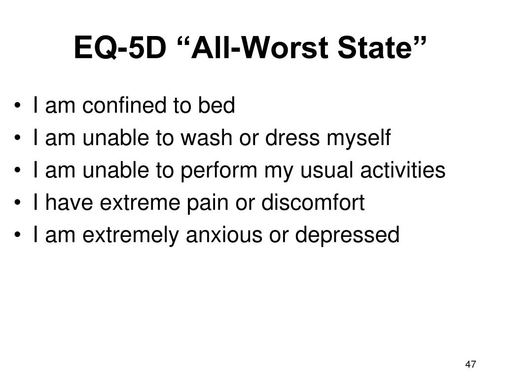 """EQ-5D """"All-Worst State"""""""
