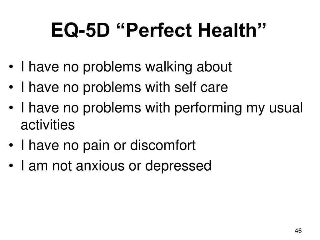 """EQ-5D """"Perfect Health"""""""