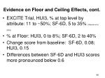 evidence on floor and ceiling effects cont