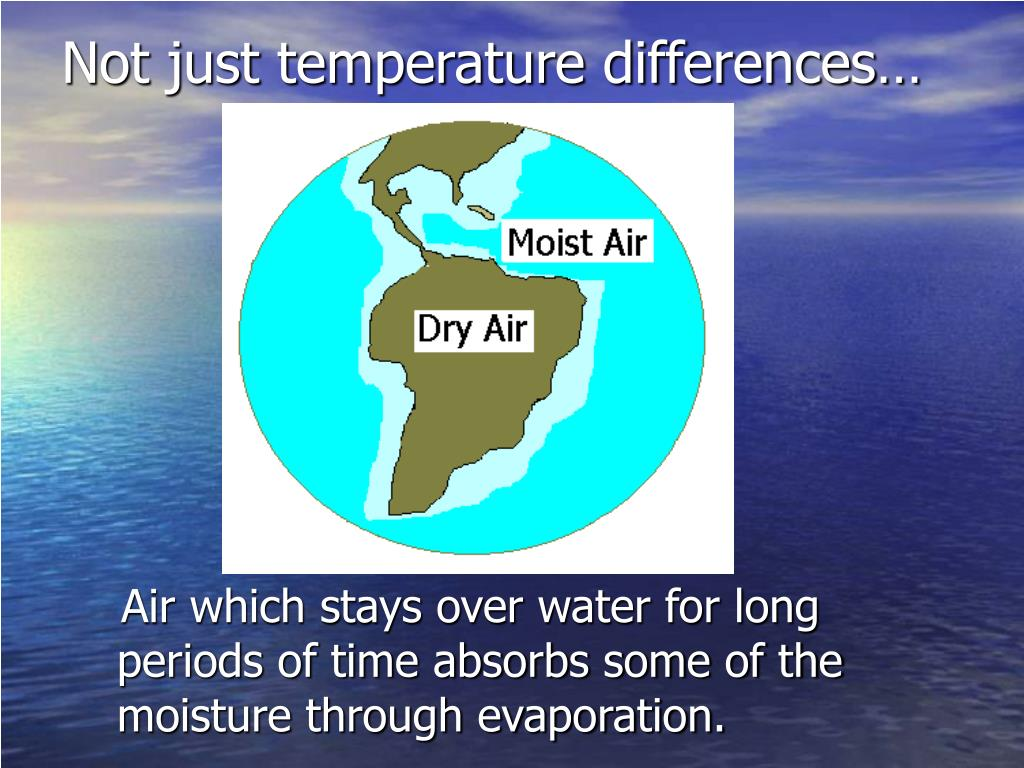 Not just temperature differences…