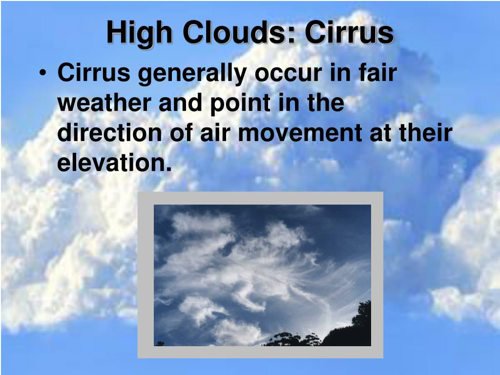 High Clouds:
