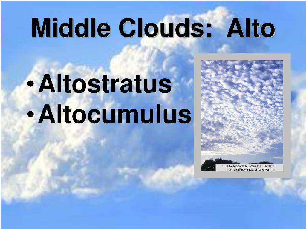 Middle Clouds:  Alto