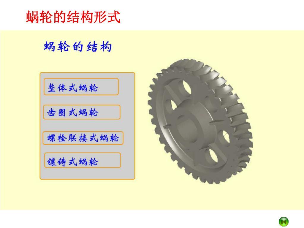 蜗轮的结构形式