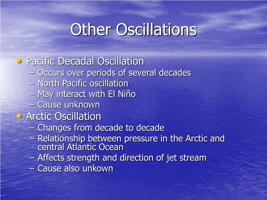 Other Oscillations