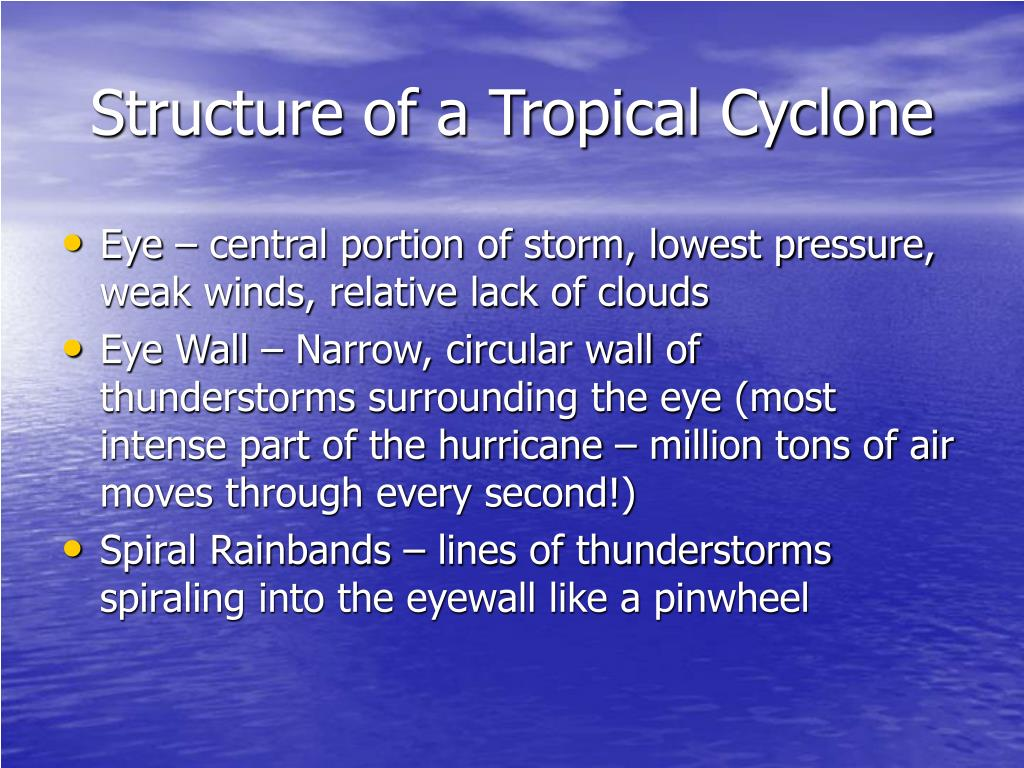 Structure of a Tropical Cyclone