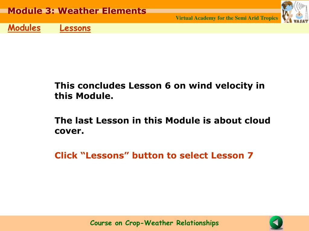 Module 3: Weather Elements