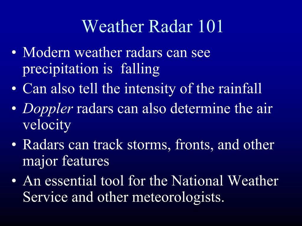 Weather Radar 101