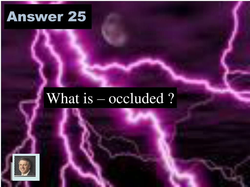 Answer 25