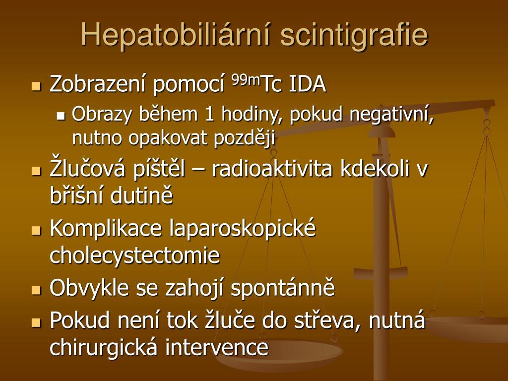 Hepatobiliární scintigrafie