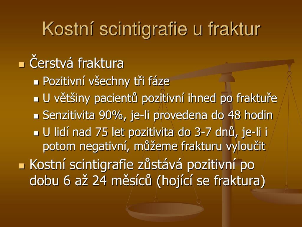 Kostní scintigrafie u fraktur