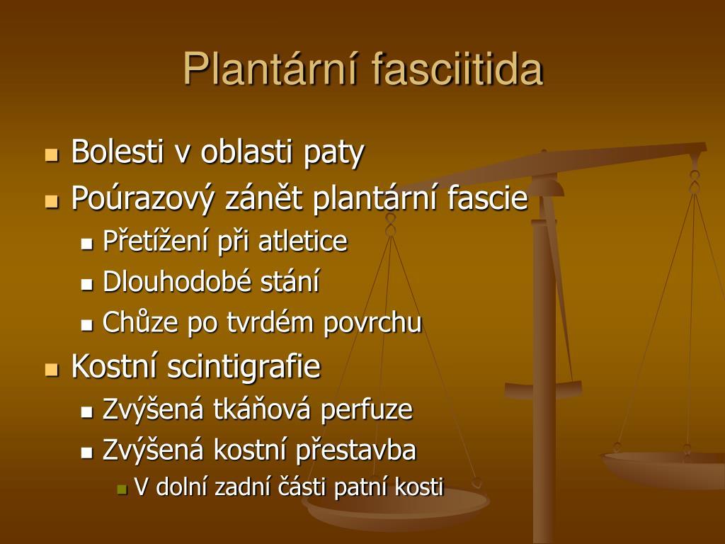 Plantární fasciitida