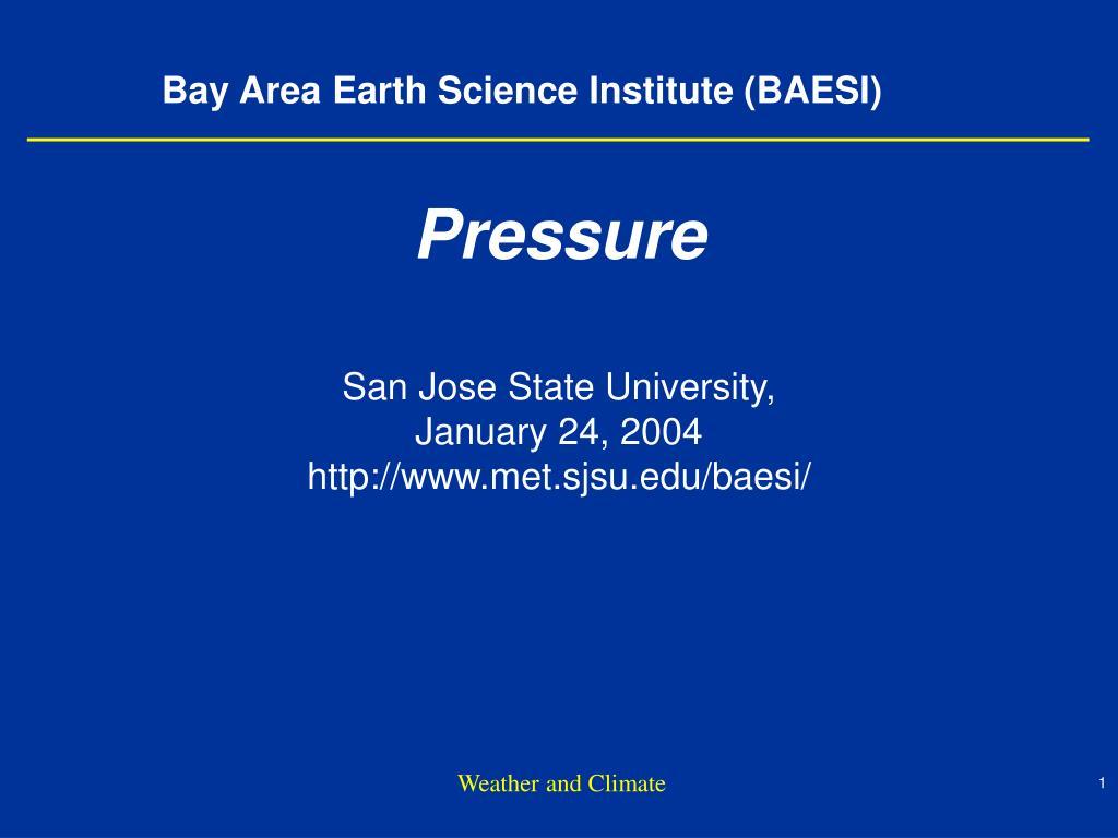 Bay Area Earth Science Institute (BAESI)