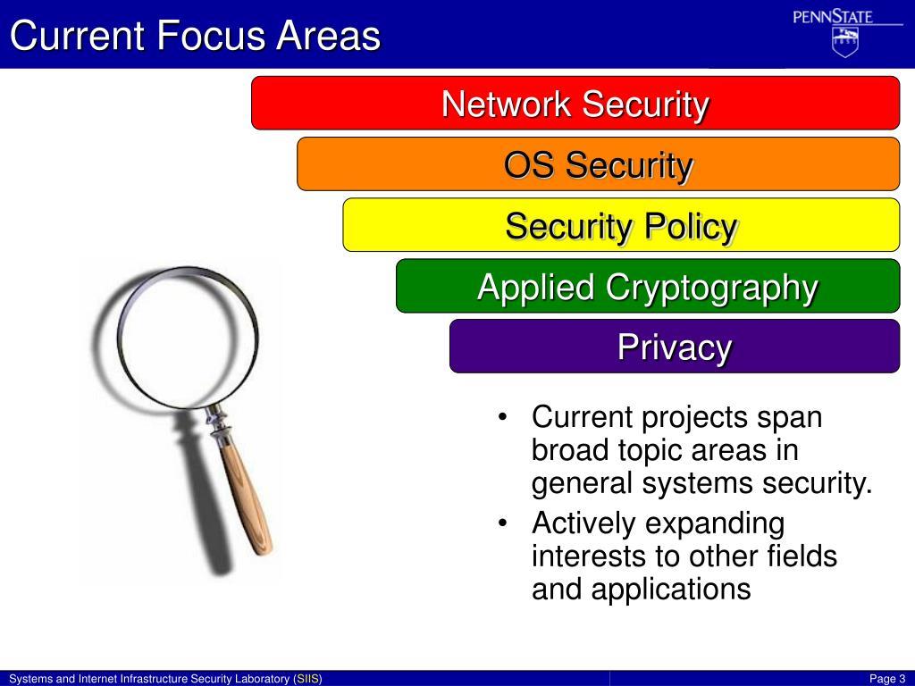 Current Focus Areas