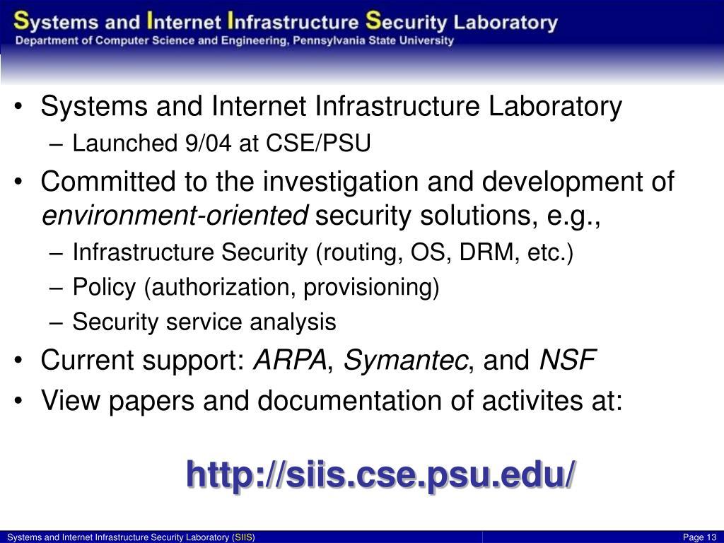 The SIIS Laboratory …