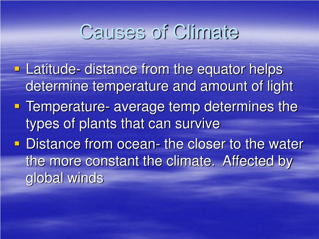 Causes of Climate