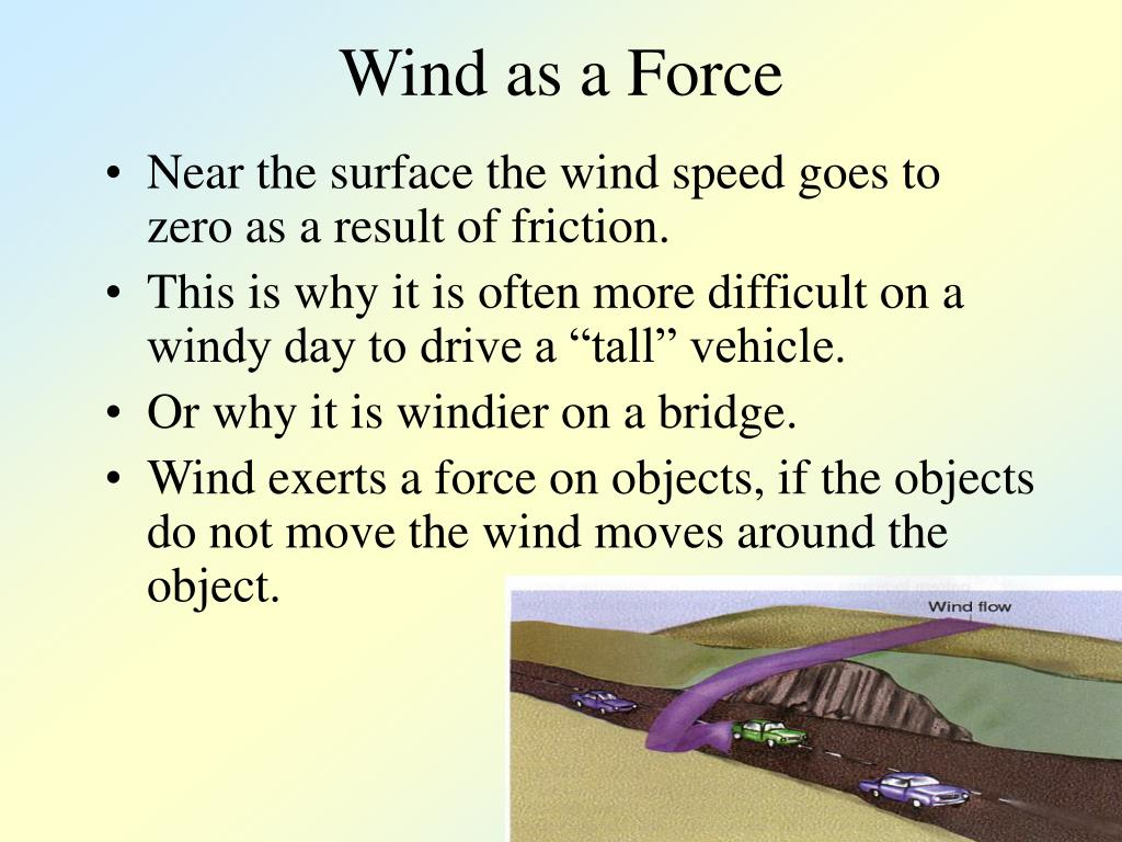 Wind as a Force