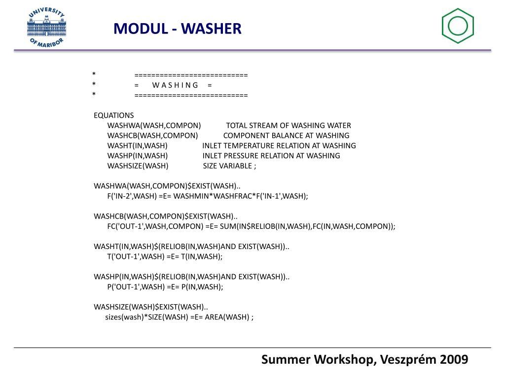MODUL - WASHER