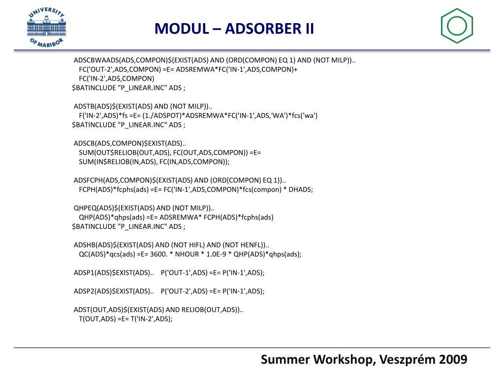 MODUL – ADSORBER II
