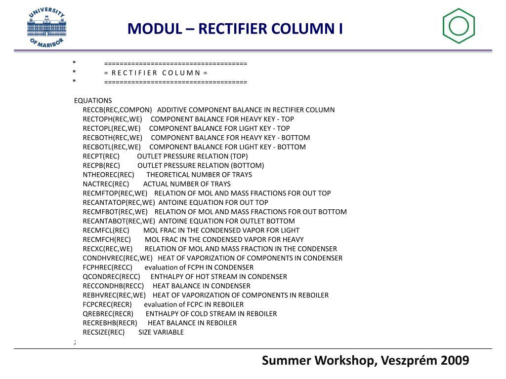 MODUL – RECTIFIER COLUMN I