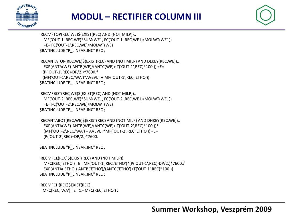 MODUL – RECTIFIER COLUMN III