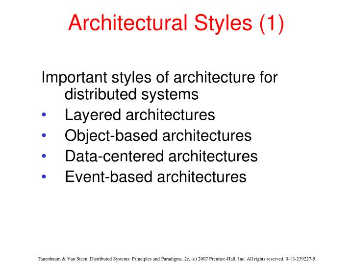 Architectural styles 1