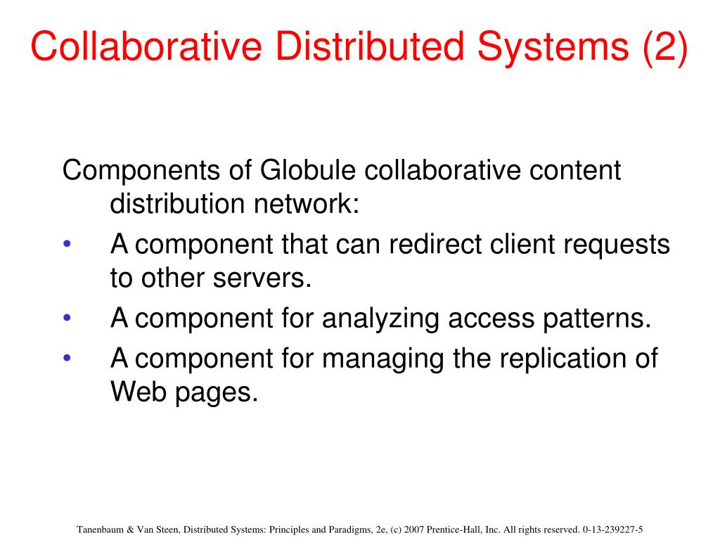 Collaborative Distributed Systems (2)