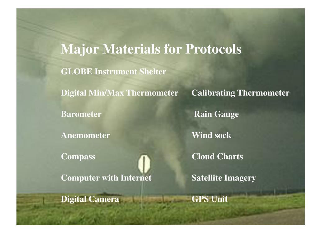 Major Materials for Protocols