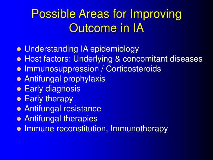 Possible areas for improving outcome in ia l.jpg