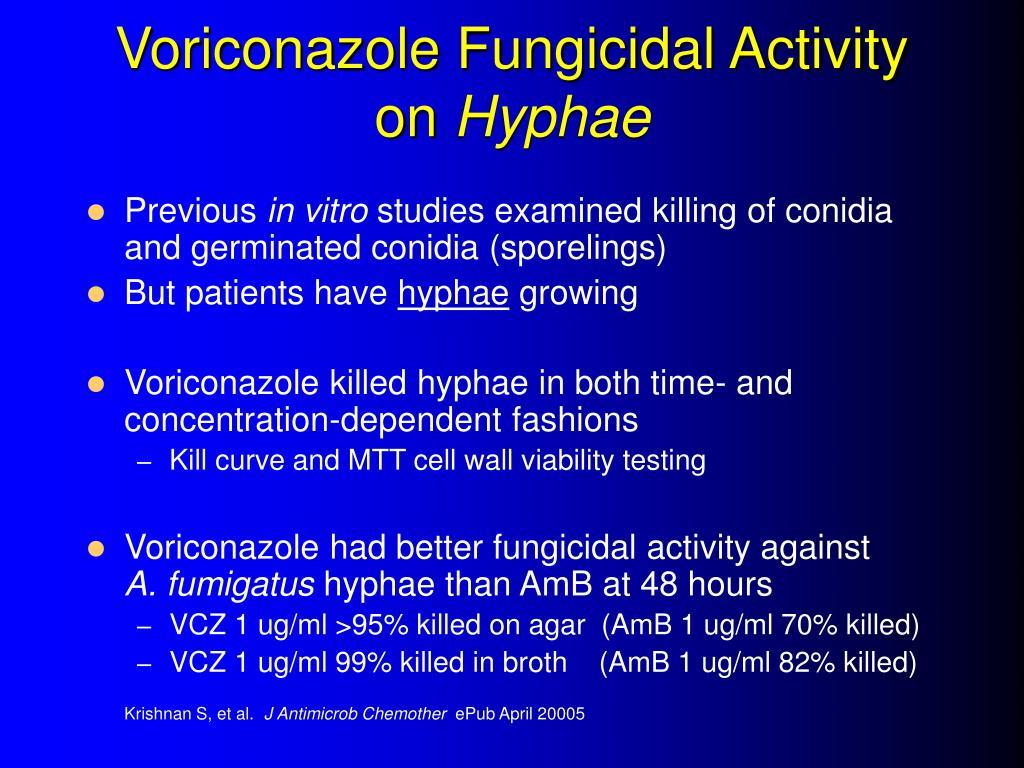 Voriconazole Fungicidal Activity