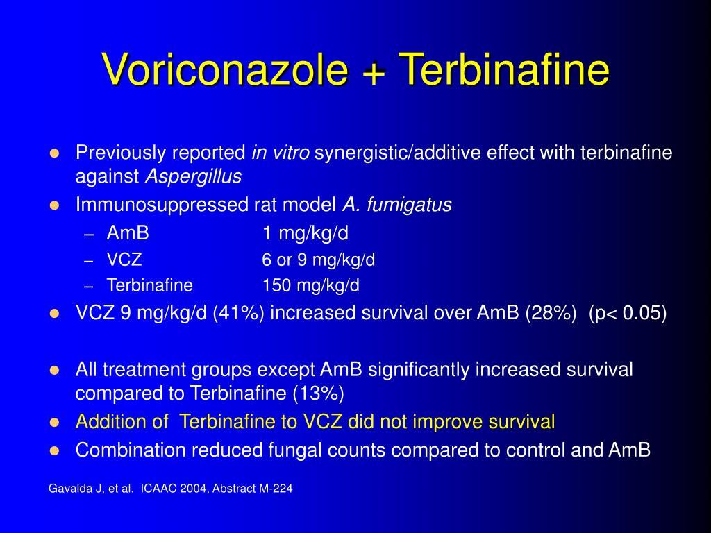 Voriconazole + Terbinafine