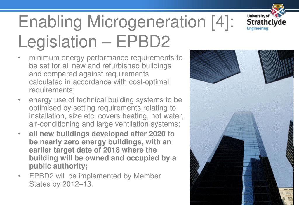 Enabling Microgeneration [4]: Legislation – EPBD2