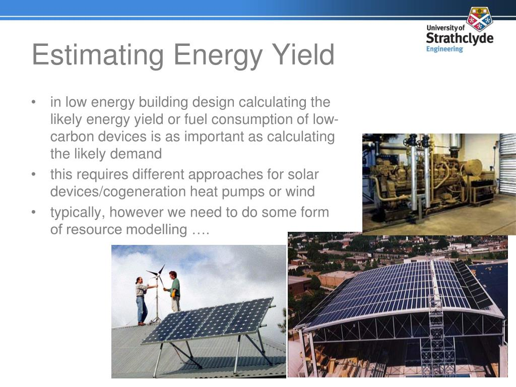 Estimating Energy Yield