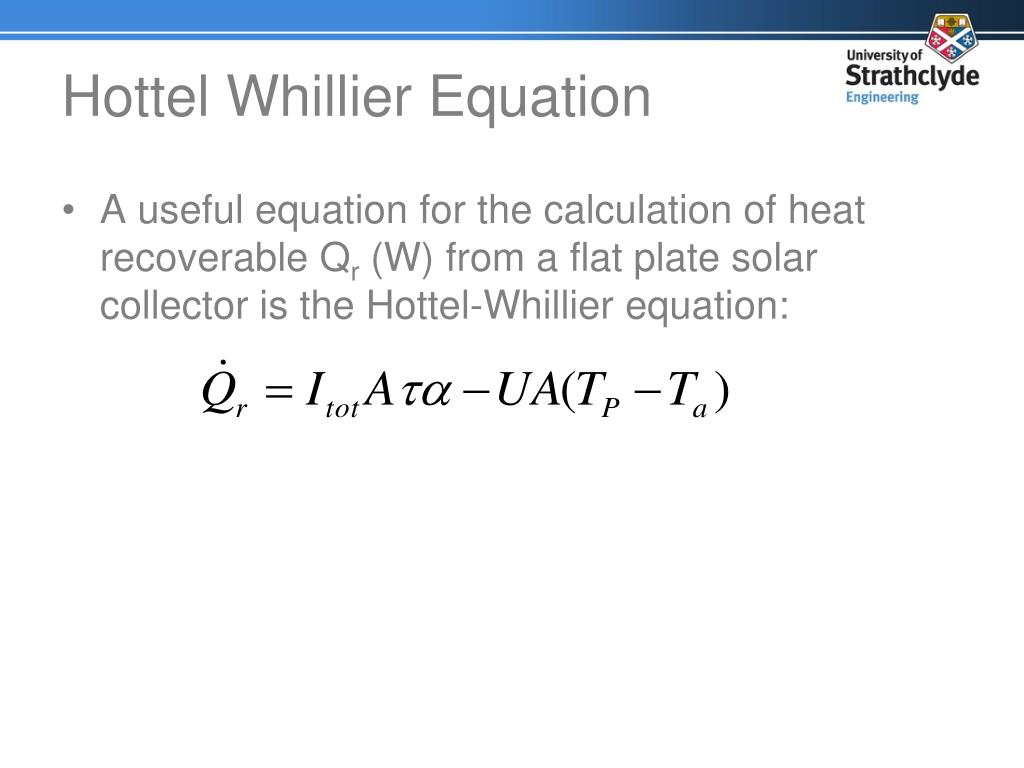 Hottel Whillier Equation