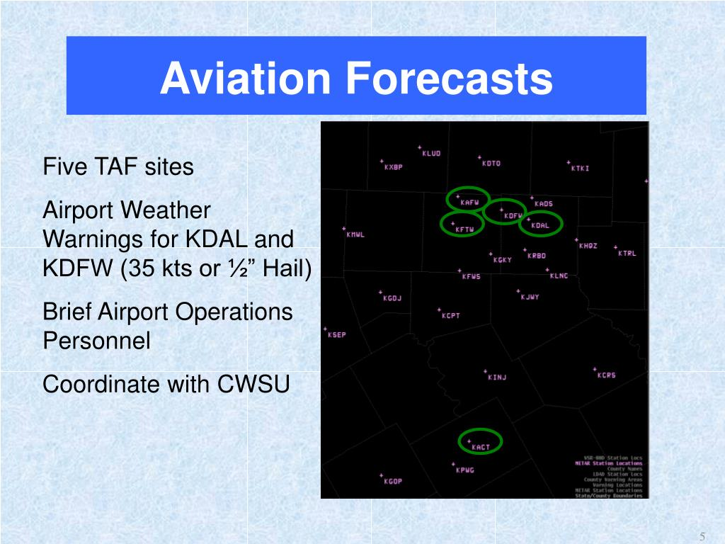 Aviation Forecasts