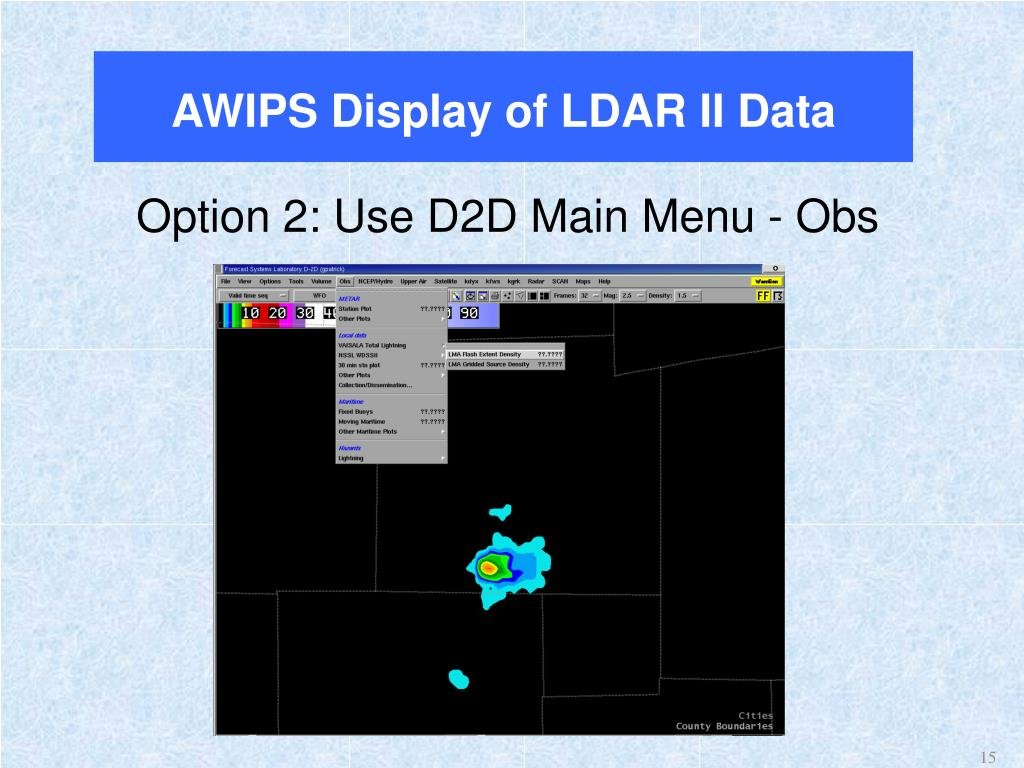 AWIPS Display of LDAR II Data