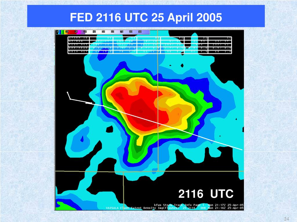 FED 2116 UTC 25 April 2005