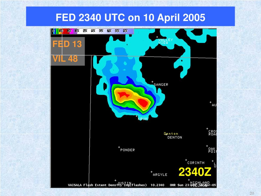 FED 2340 UTC on 10 April 2005