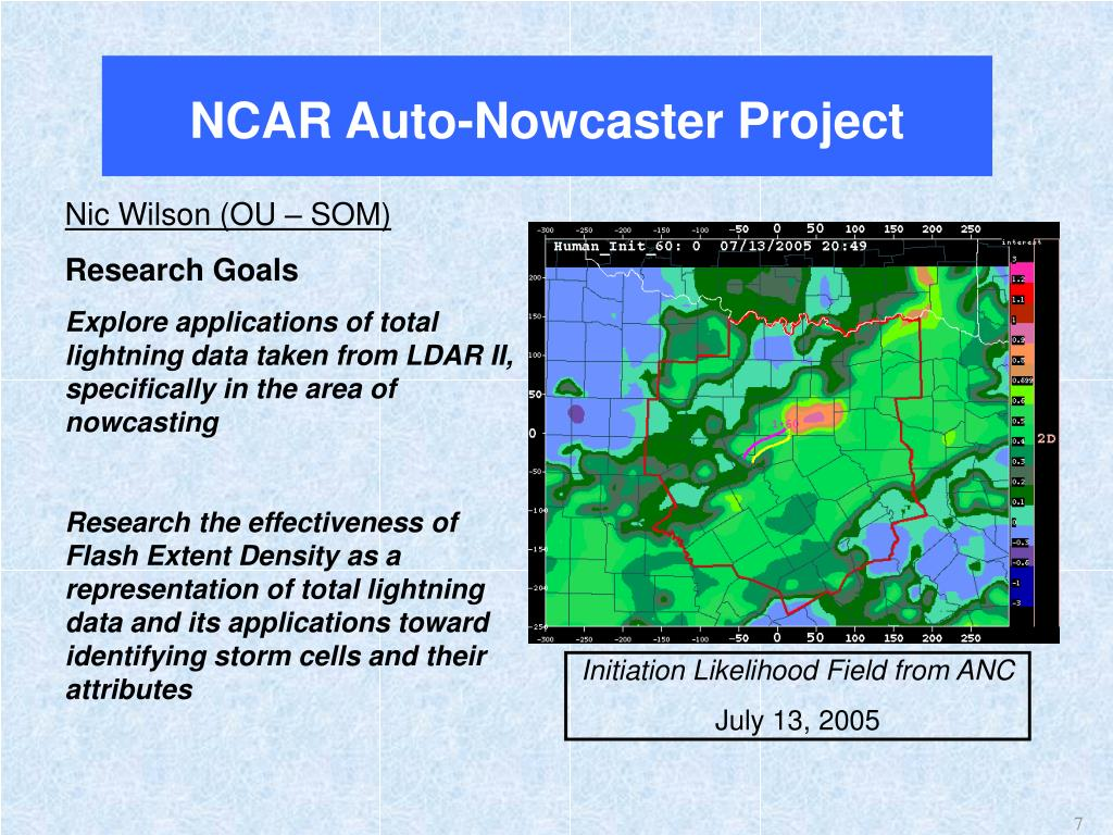 NCAR Auto-Nowcaster Project