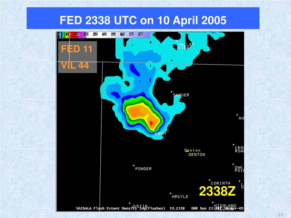 FED 2338 UTC on 10 April 2005