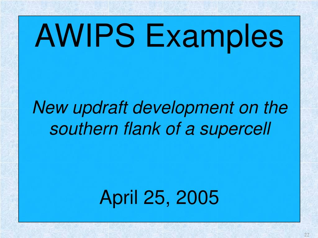 AWIPS Examples