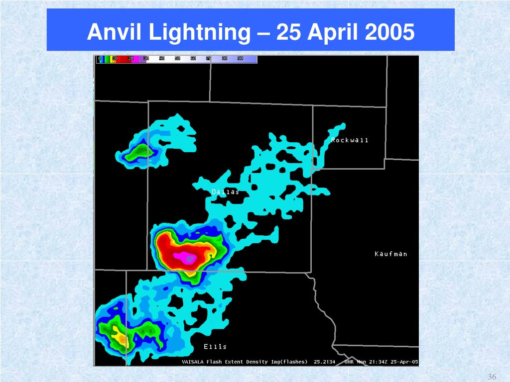 Anvil Lightning – 25 April 2005
