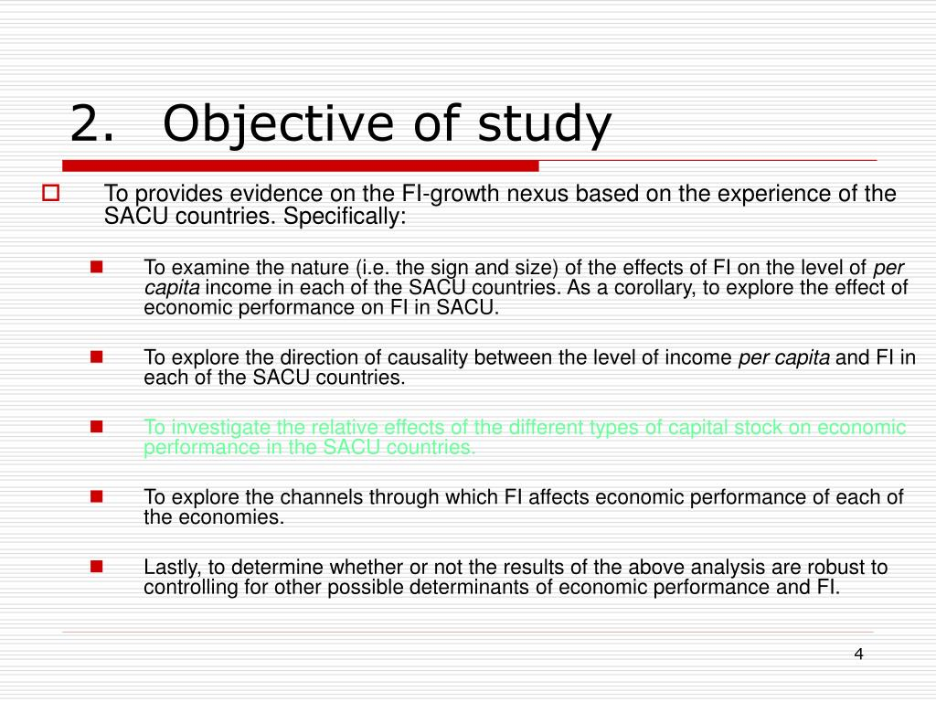 2.Objective of study