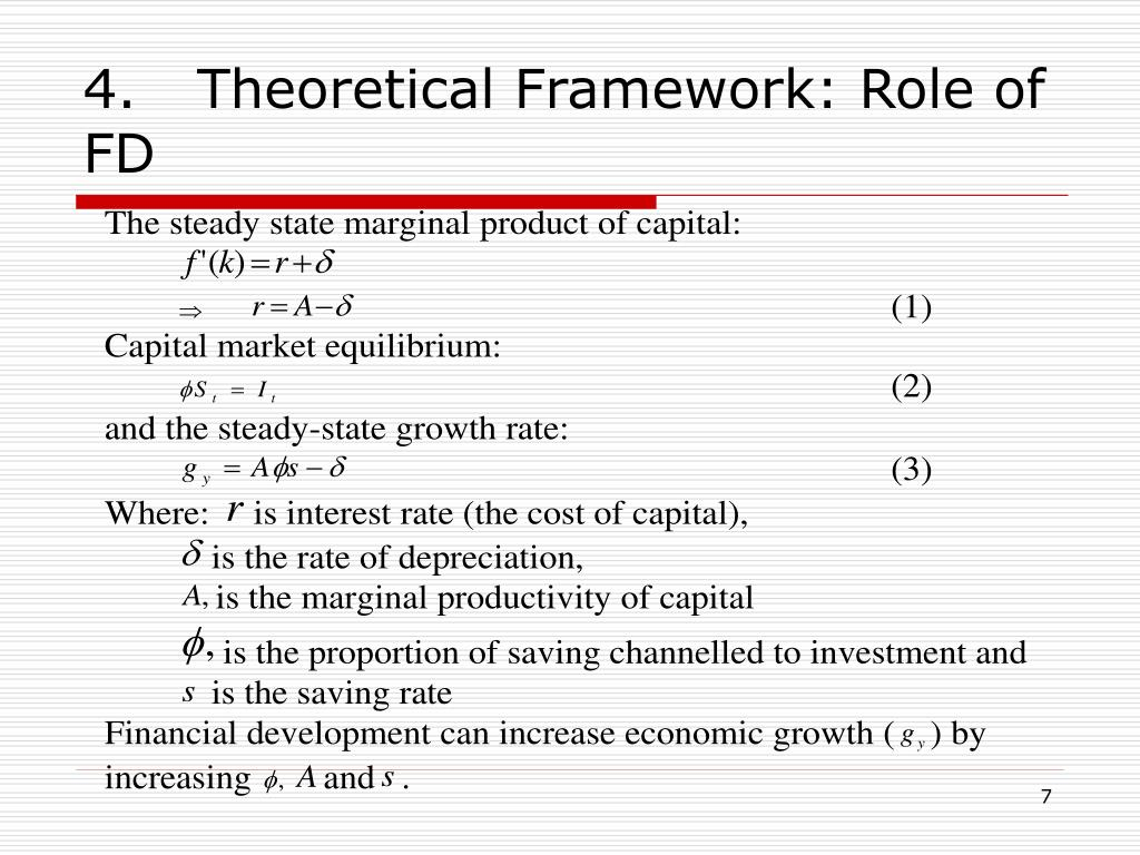 4.Theoretical Framework: Role of FD