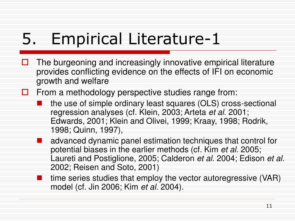 5.Empirical Literature-1