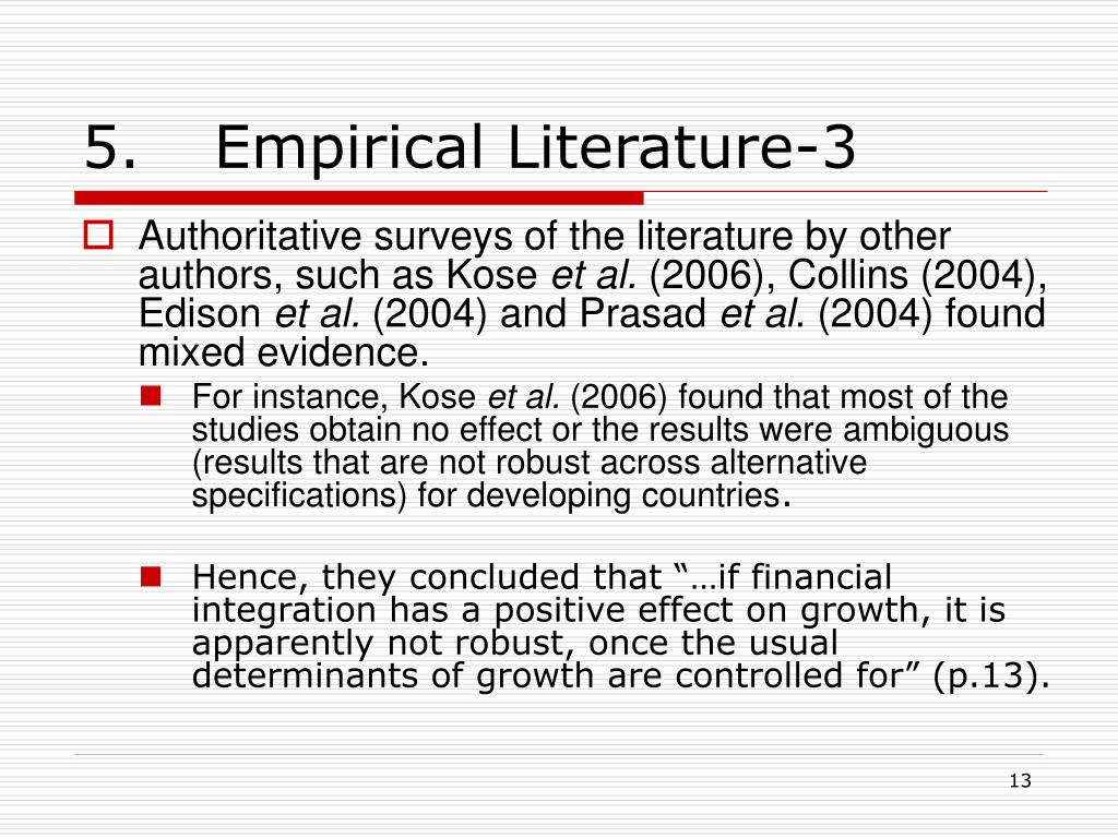 5. Empirical Literature-3