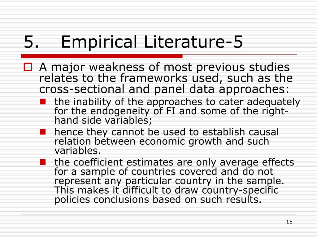 5. Empirical Literature-5